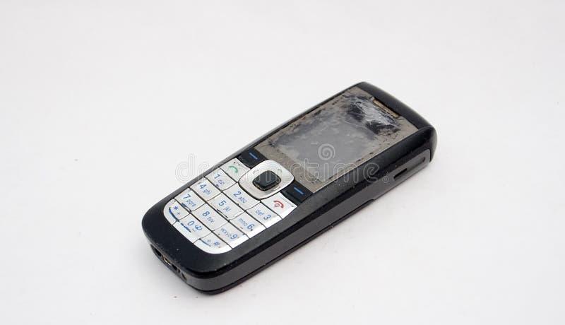 Teléfono celular viejo imagen de archivo libre de regalías