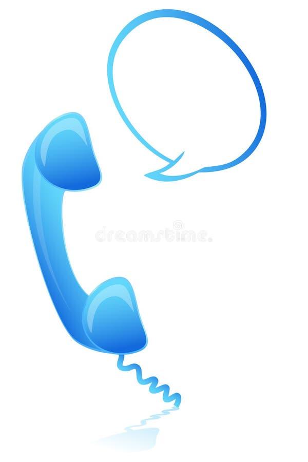 Teléfono con el rectángulo de diálogo stock de ilustración