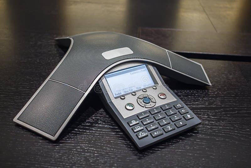 Teléfono de la conferencia fotos de archivo