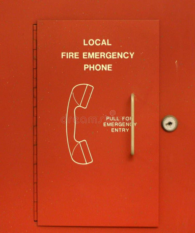 Teléfono de la emergencia fotografía de archivo libre de regalías