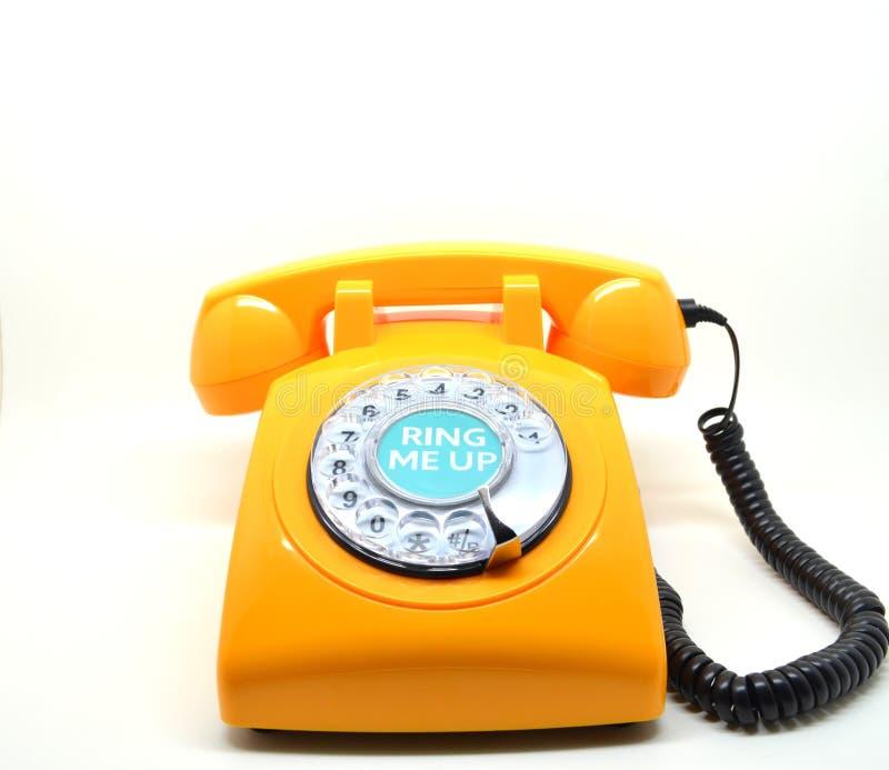 Teléfono de la naranja del vintage foto de archivo