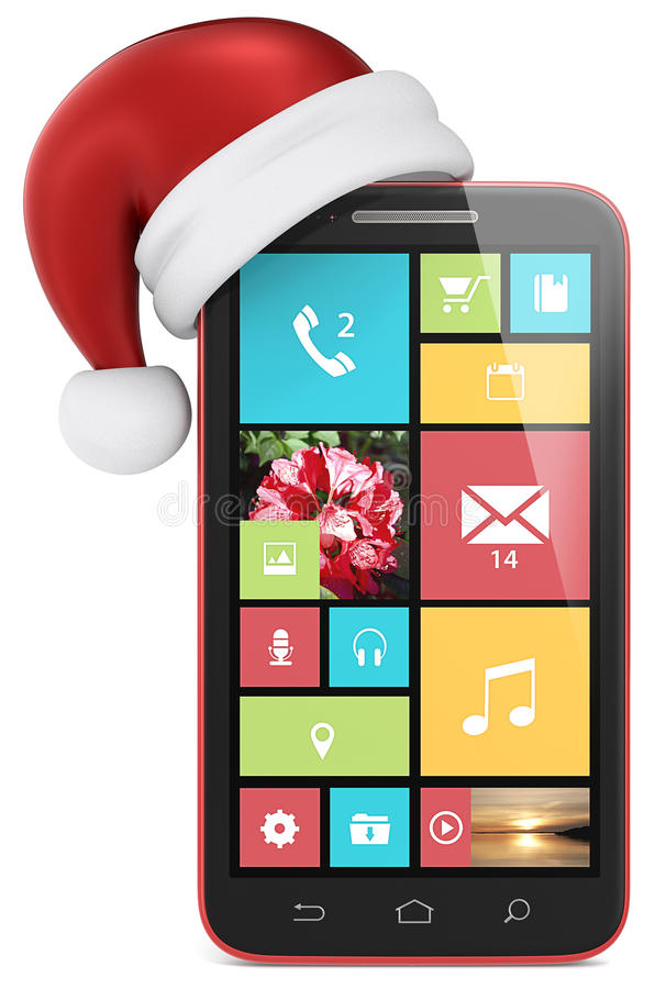 Teléfono de la Navidad. stock de ilustración