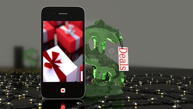 Teléfono de la Navidad para enviar imágenes de archivo libres de regalías