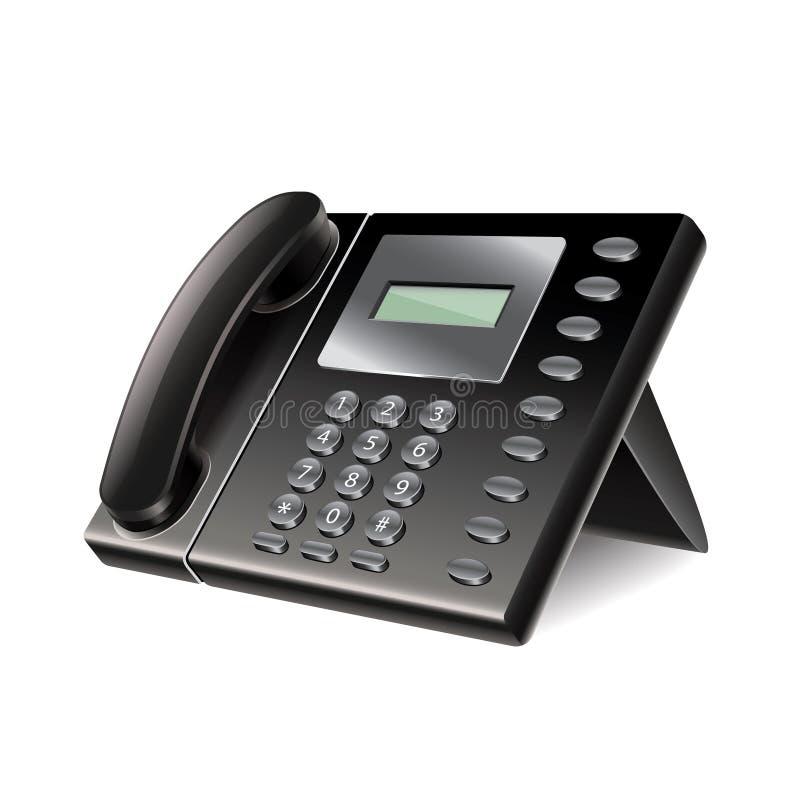 Tel fono de la oficina aislado en el vector blanco for La oficina telefono