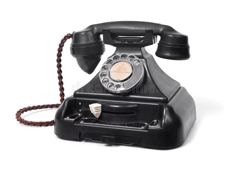 Teléfono de la oficina del dial rotatorio del vintage fotografía de archivo libre de regalías