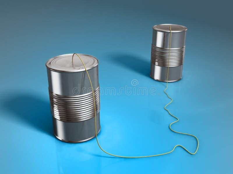 Teléfono de la poder de estaño ilustración del vector