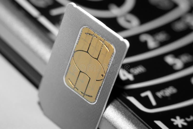 Teléfono de la tarjeta de SIM imagenes de archivo
