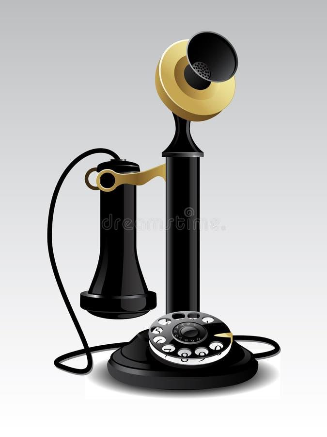 Teléfono de la vendimia stock de ilustración