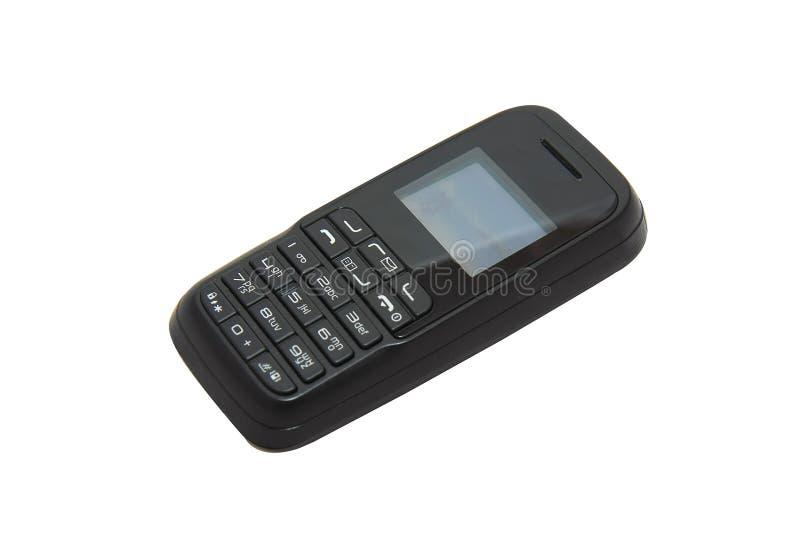 Teléfono de la vieja mano fotos de archivo