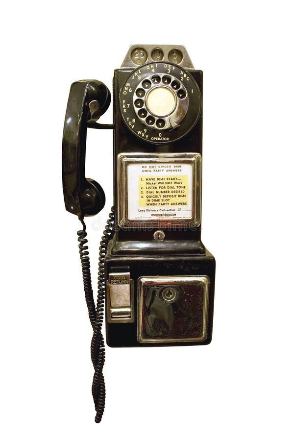 Teléfono de paga de la vendimia fotos de archivo