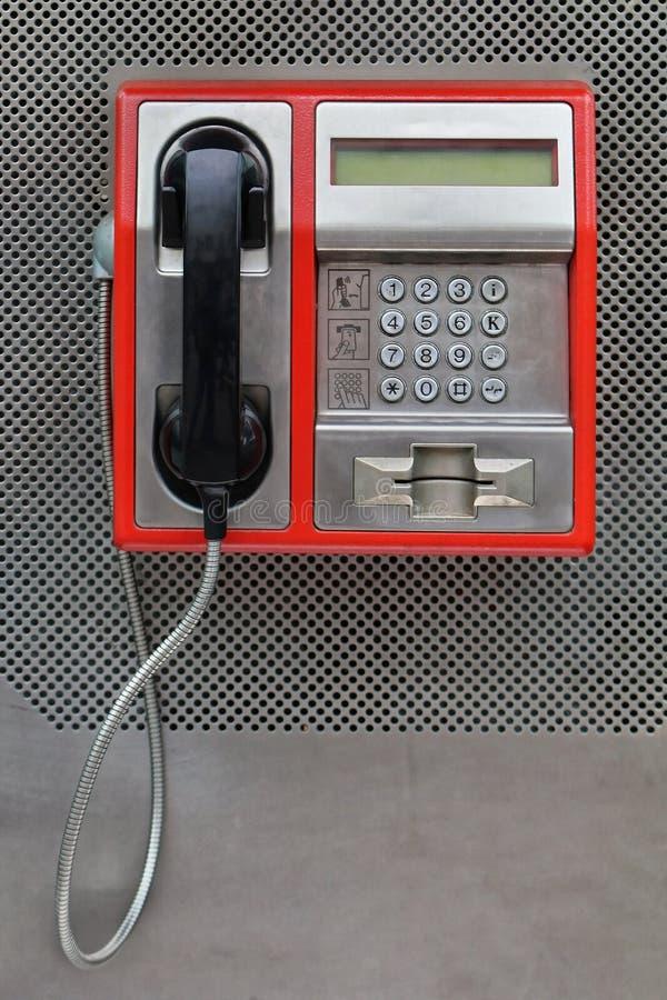 Teléfono de pago foto de archivo