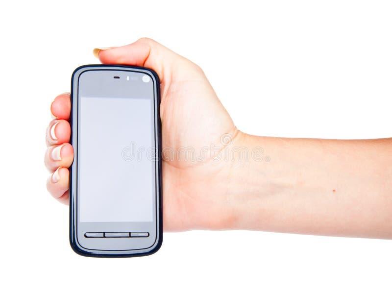 Teléfono de PDA disponible fotografía de archivo libre de regalías