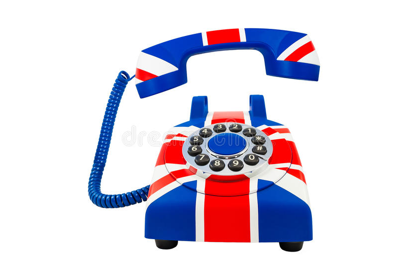 Teléfono De Union Jack Con El Microteléfono Flotante Con El Modelo ...