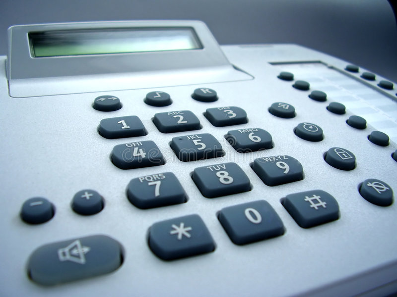 Teléfono del escritorio fotos de archivo