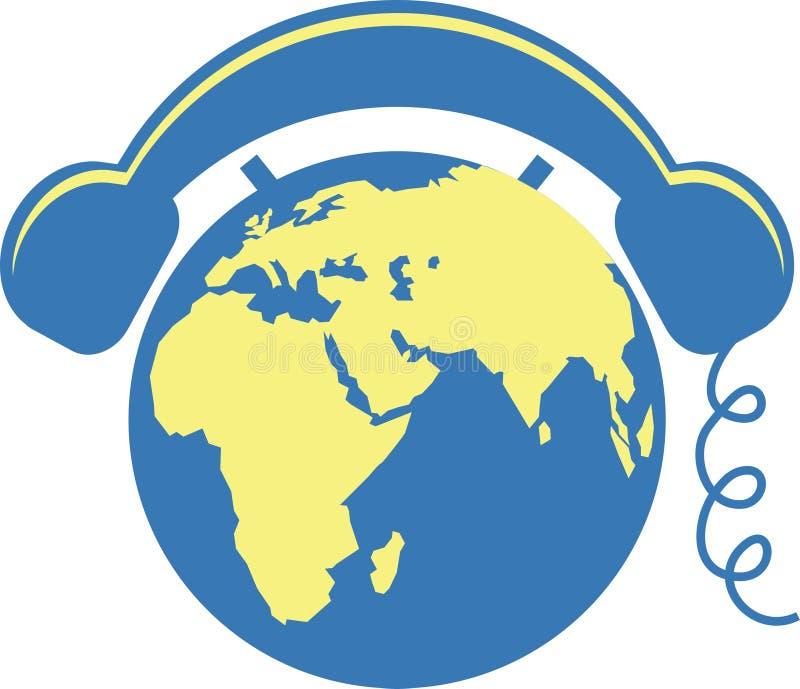 Teléfono del globo ilustración del vector