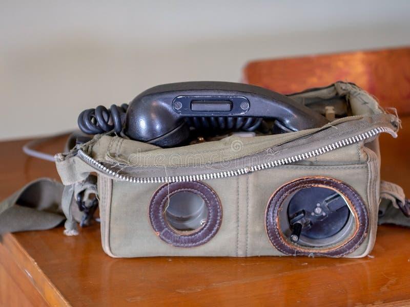 Teléfono del guardacostas de California del vintage imágenes de archivo libres de regalías