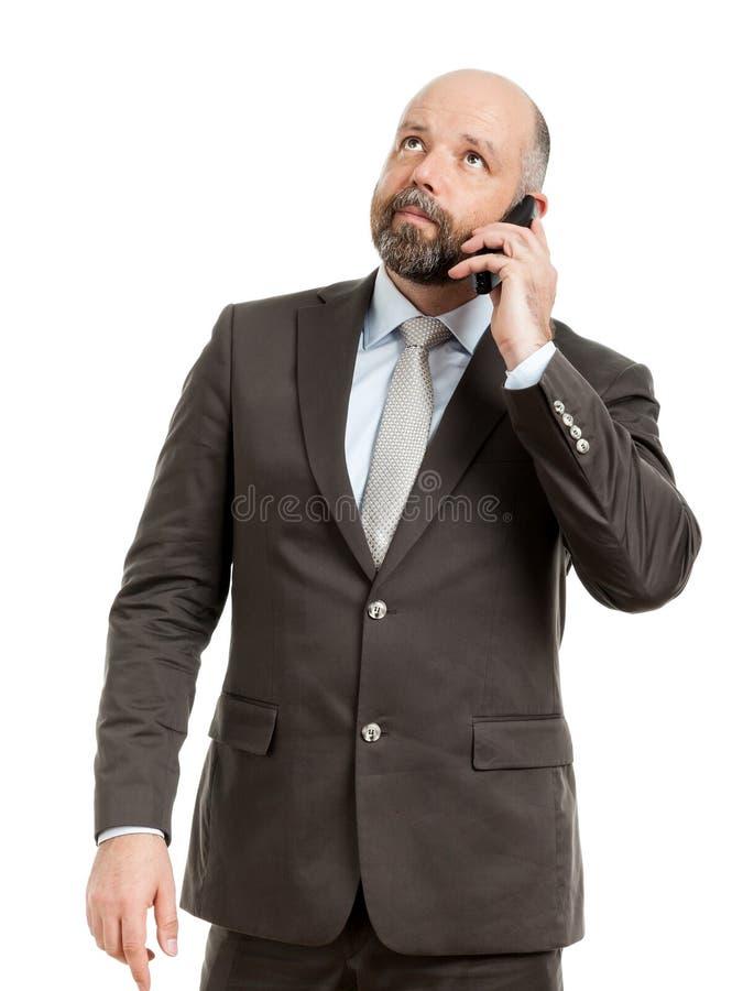 Teléfono del hombre de negocios imagenes de archivo