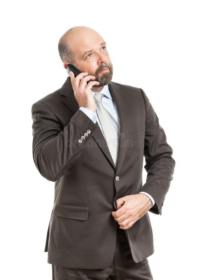 Teléfono del hombre de negocios imagen de archivo libre de regalías