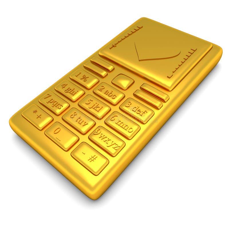 Teléfono del oro ilustración del vector