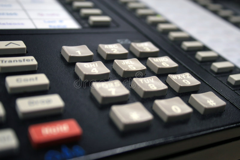 Teléfono del trabajo imagenes de archivo