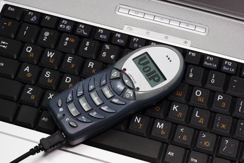 Teléfono del USB de VoIP imagenes de archivo