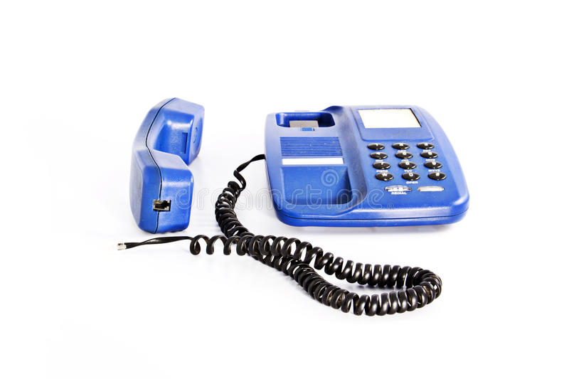 Teléfono desenchufado imagen de archivo