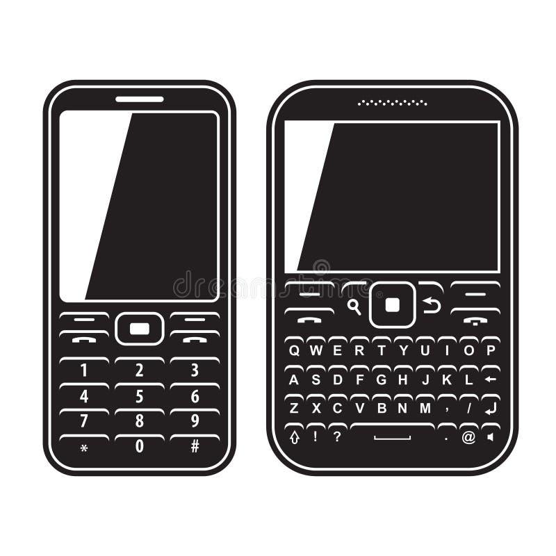 Teléfono determinado del móvil moderno con el teclado QWERTY ilustración del vector