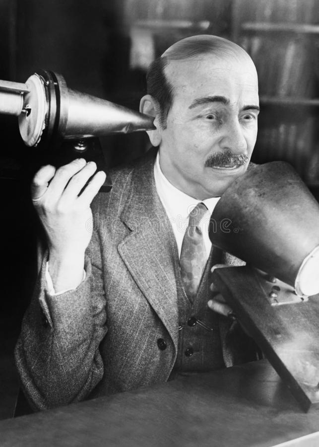 Teléfono divertido, ventas, márketing, Scince, científico fotos de archivo libres de regalías