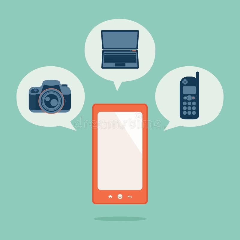 Teléfono elegante stock de ilustración