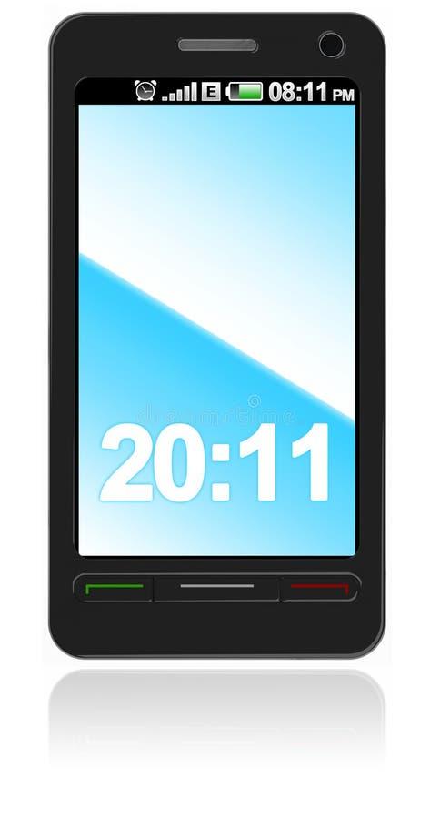 Teléfono elegante abstracto de la pantalla táctil ilustración del vector