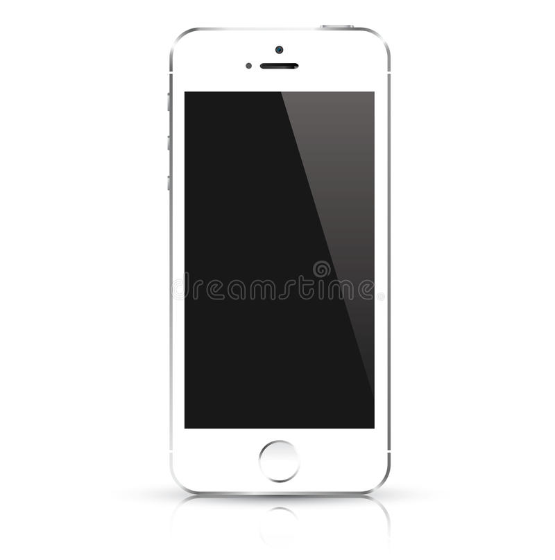Teléfono elegante blanco moderno Illustra del vector libre illustration