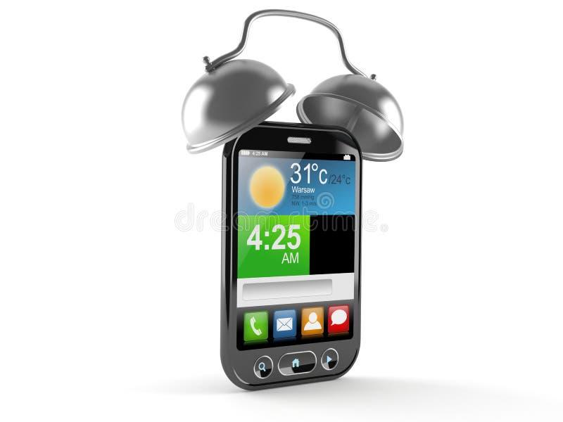 Teléfono elegante con el despertador libre illustration