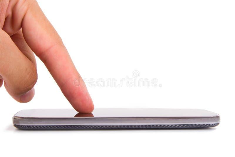 Teléfono elegante con la pantalla en blanco imagen de archivo libre de regalías