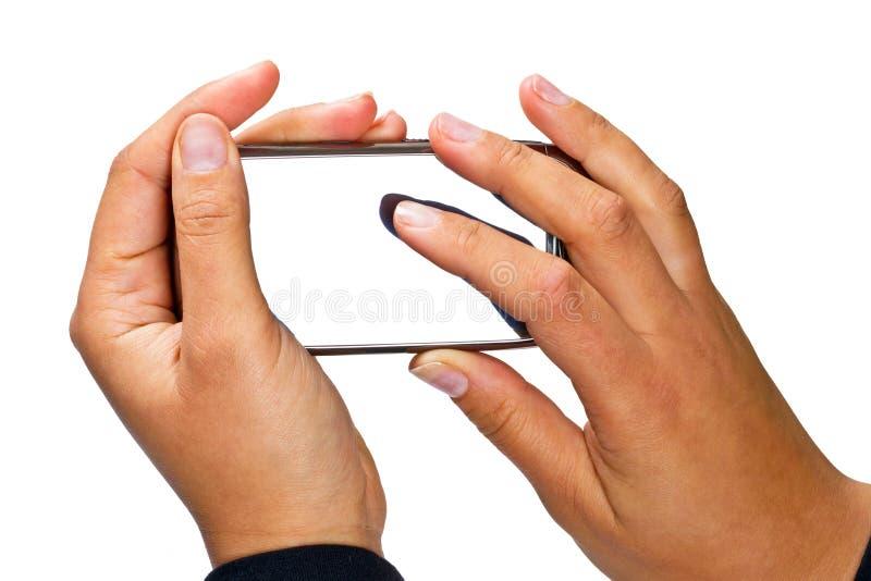 Teléfono Elegante Con La Visualización En Blanco Imágenes de archivo libres de regalías