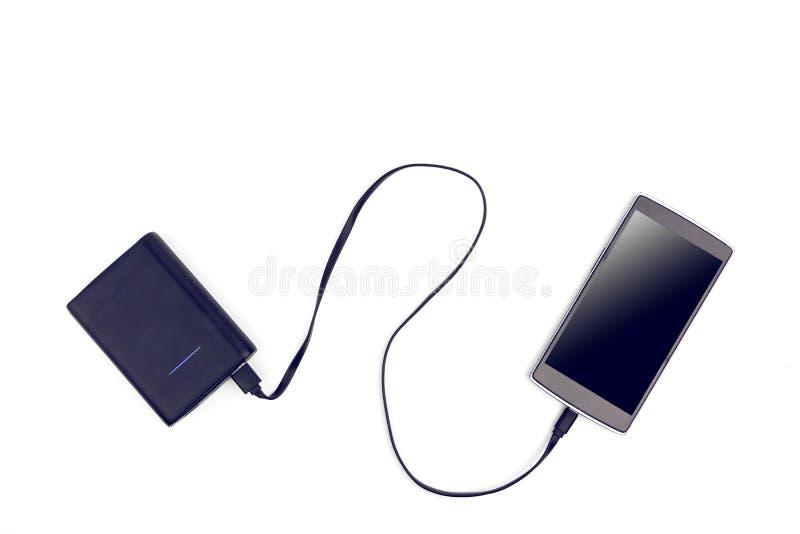 Teléfono elegante de Chargering a la batería portátil imagenes de archivo