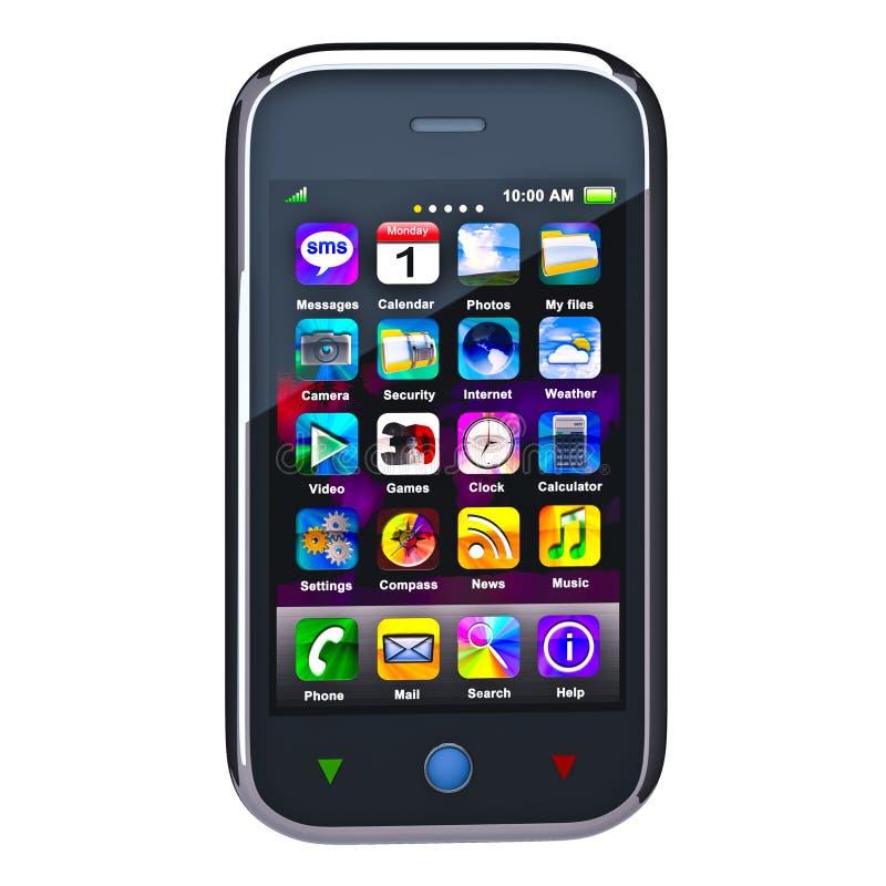 Teléfono elegante de la pantalla táctil ilustración del vector