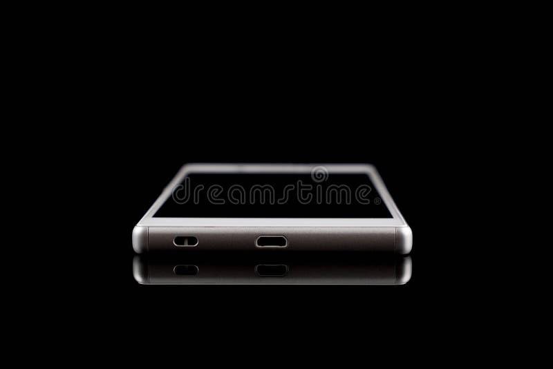 Teléfono elegante, lado superior blanco del teléfono móvil imagen de archivo libre de regalías