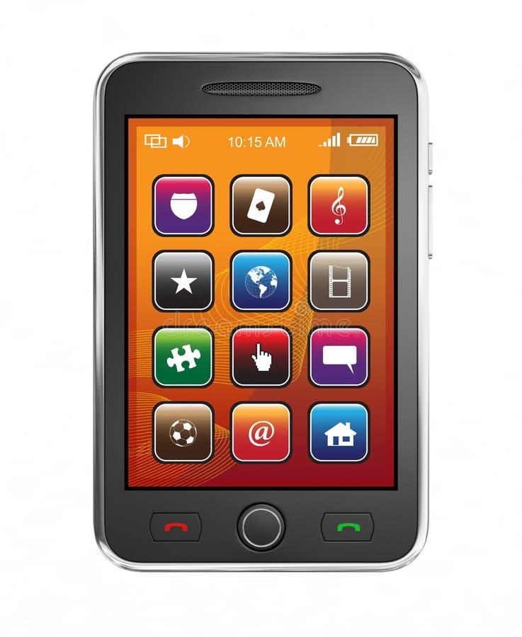 Teléfono elegante móvil stock de ilustración