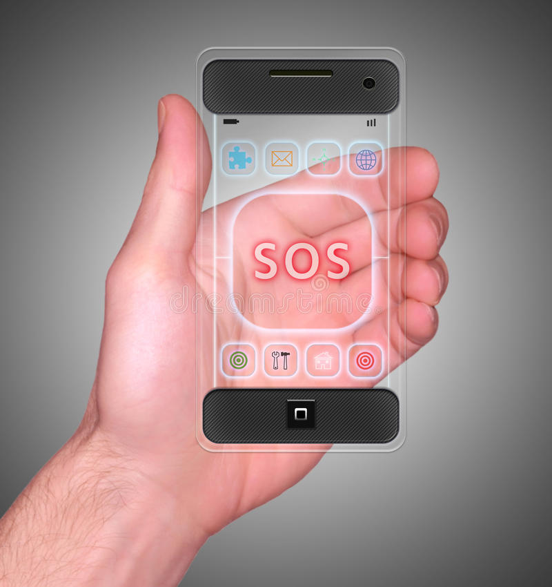 Teléfono elegante móvil transparente fotos de archivo
