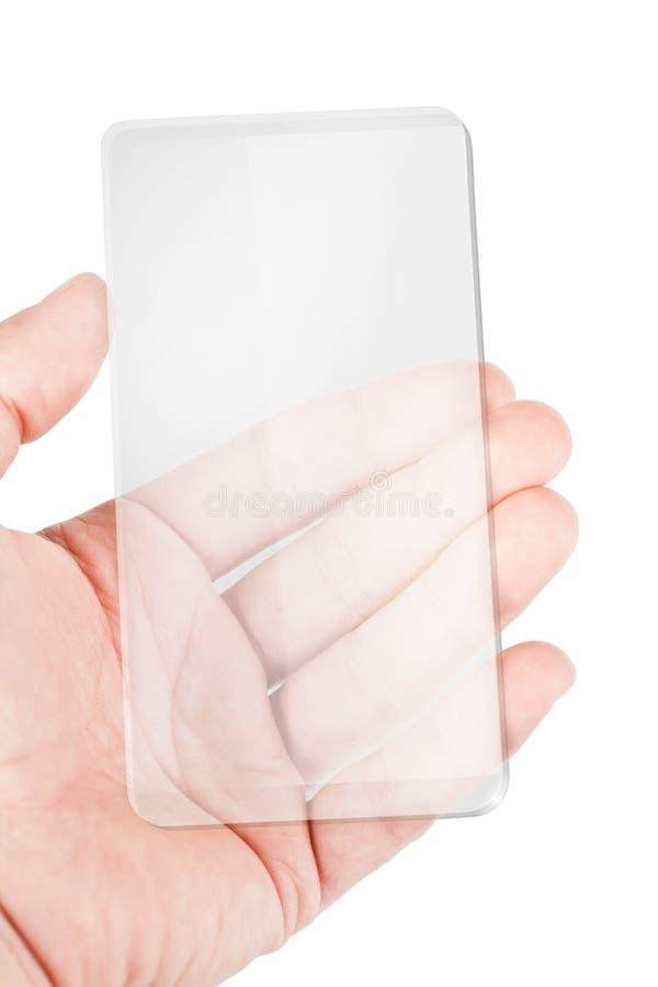 Teléfono elegante móvil transparente imágenes de archivo libres de regalías