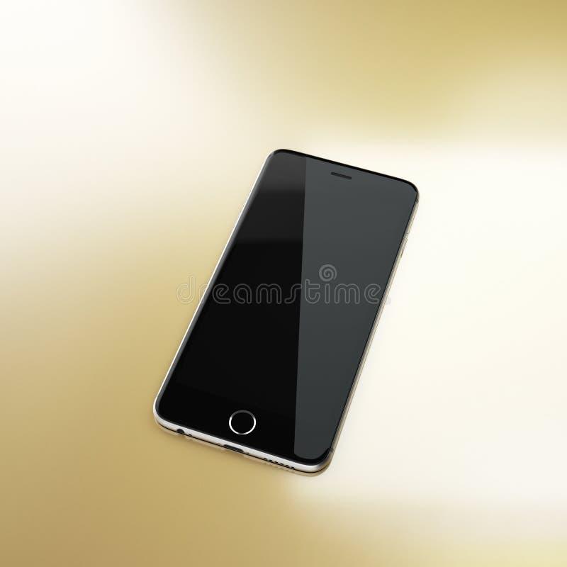 Teléfono elegante negro en fondo abstracto imágenes de archivo libres de regalías