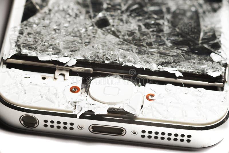 Teléfono elegante roto imágenes de archivo libres de regalías