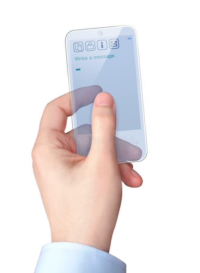 Teléfono elegante transparente imagenes de archivo
