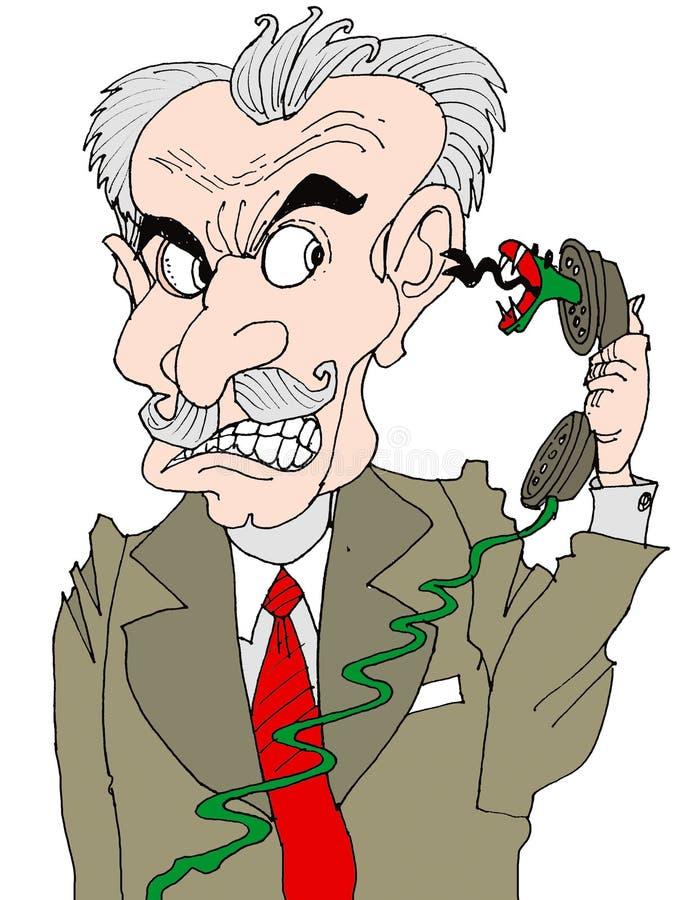 Download Teléfono enojado stock de ilustración. Ilustración de businessman - 1297284