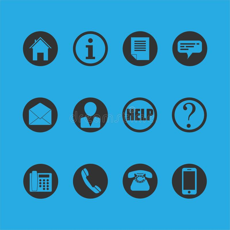 Teléfono, hogar, información, charla, mensaje, persona, ayuda, símbolos de la pregunta libre illustration