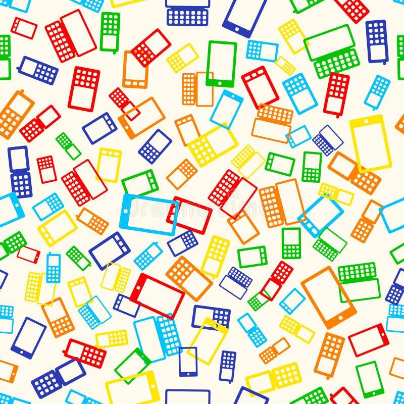 Teléfono inconsútil del modelo stock de ilustración