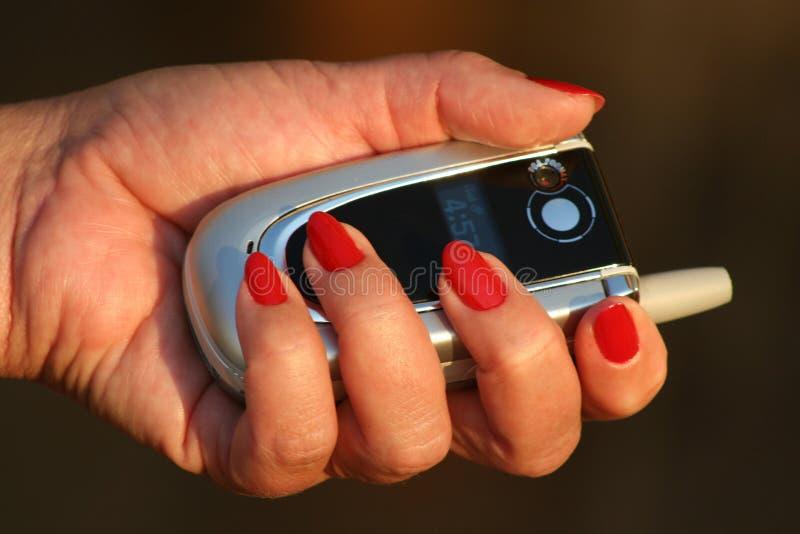Download Teléfono móvil imagen de archivo. Imagen de mano, hembra - 189115