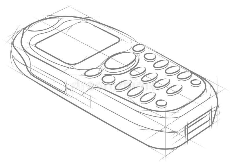 Teléfono móvil stock de ilustración