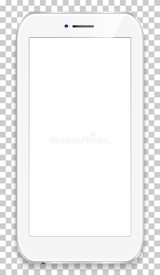 Teléfono móvil aislado en un fondo del transparancy Para presentar su uso libre illustration