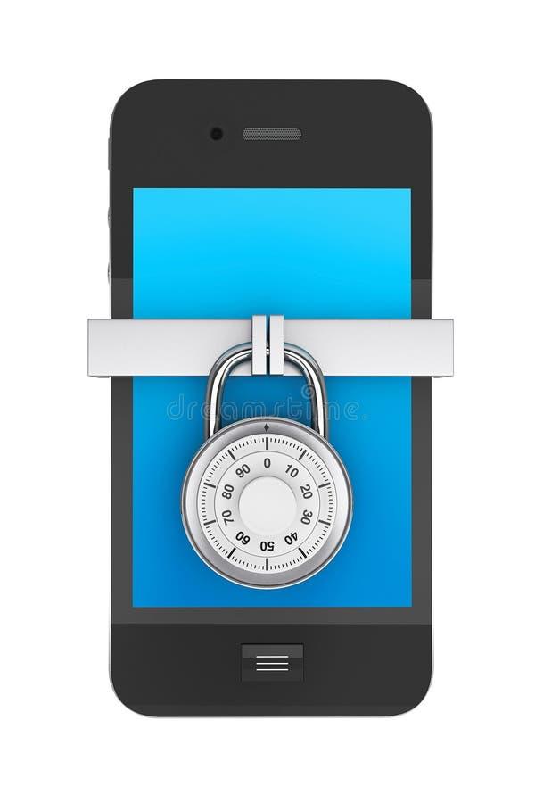 Teléfono móvil con el bloqueo ilustración del vector